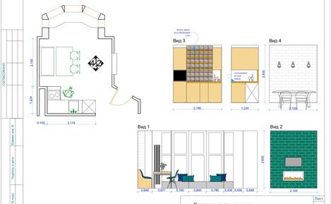 Деталировочные чертежи с конкретной мебелью