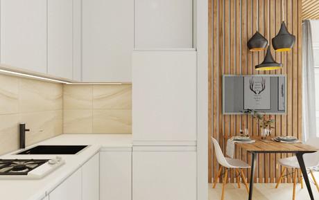 Дизайн проект студии22кв.м. Олимпийский парк, Сочи