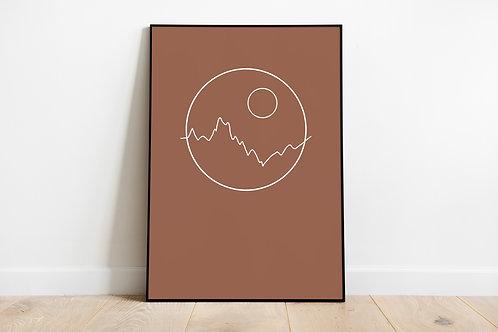 Poster 'Mountains'