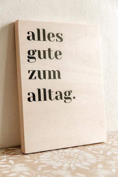 Holzleinwand mit Wunschtext