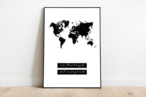 Poster 'World map'