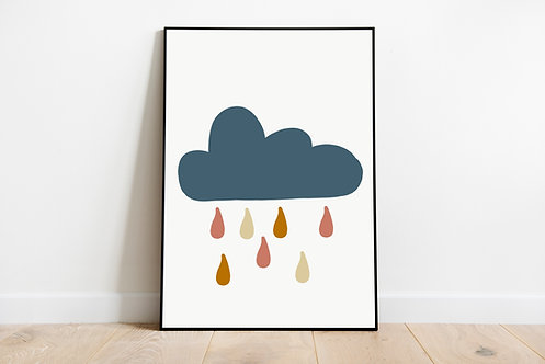 Poster 'Regenwolke'