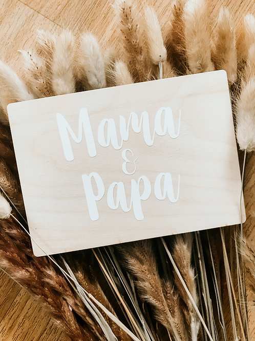 Holzpostkarte mit Wunschtext