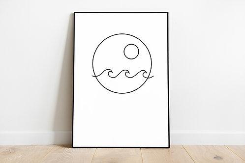Poster 'Little ocean'