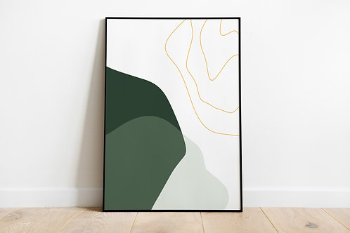 Poster 'Green rocks'