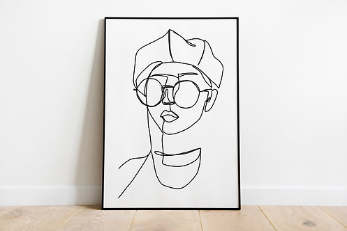 Poster 'The girl with glasses'