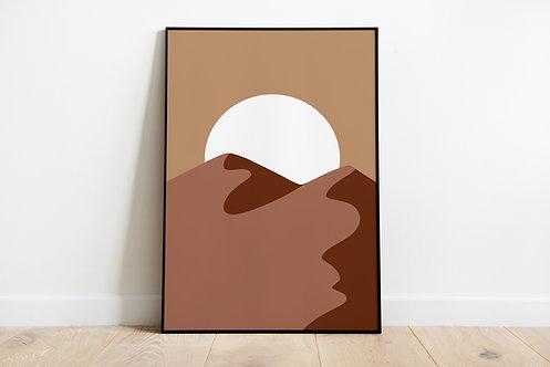 Poster 'Desert sunset'