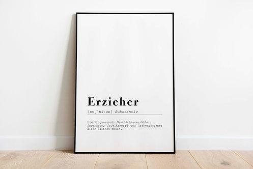 Poster 'Erzieher, Erzieherin'