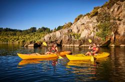 Kayaking to Mine Bay Rock Carvingsl