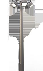 Прожекторные мачты с молниеотводом
