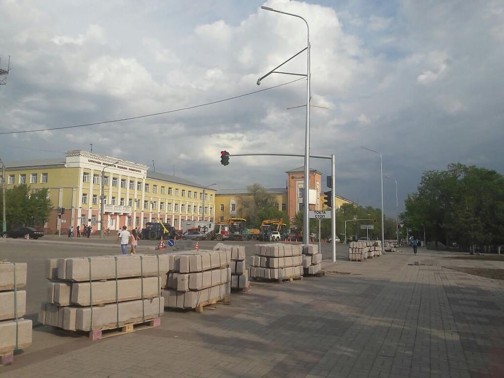 Опоры ств-10 улица Ленина г Караганда
