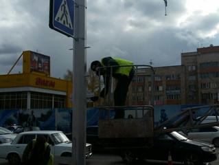 Светофор, установка город Караганда