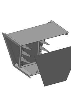 images Короб кабельный блочный угловой с поворотом вниз ККБ-УН