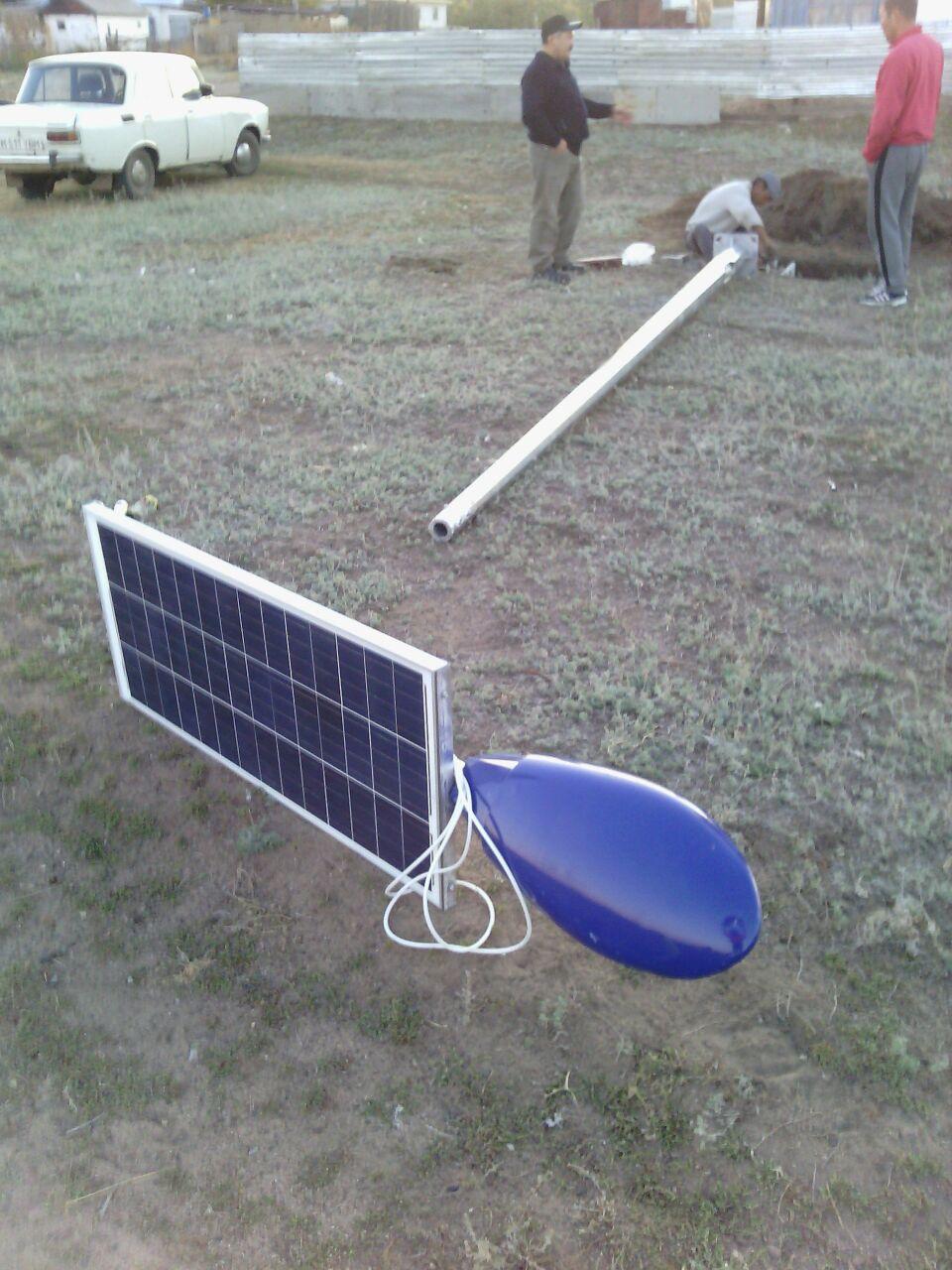 Led освещение на солнечных батареях