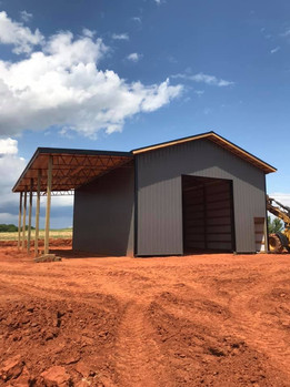 30x40 14' lean to with 16' eave wall