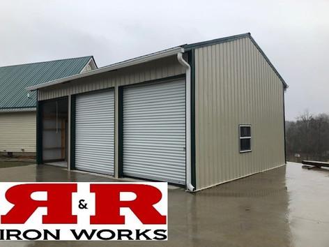 24x32 enclosed 3 door car garage