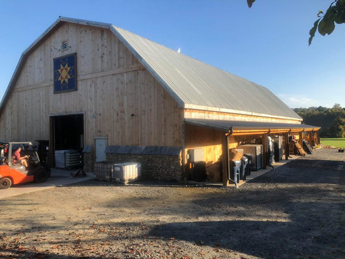60x100 Gambrel 8' Sheds on both sides