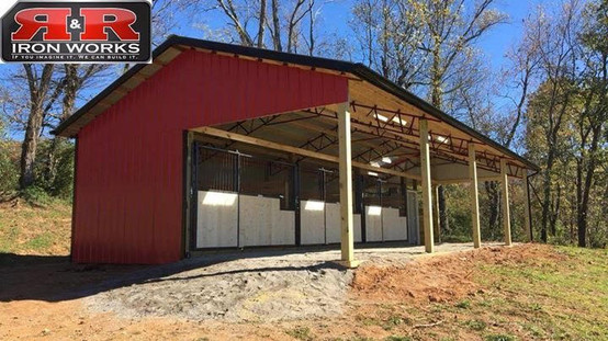 24x48 Open Corral Horse stall Barn
