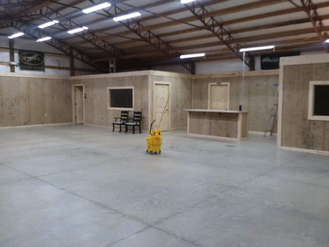 40x100 completely Enclosed with 12'x60 lean to