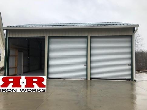 24x32 enclosed 3 car garage