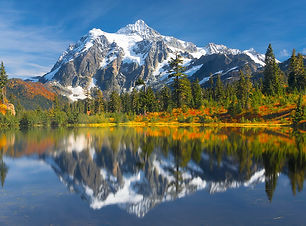 Mt Shuksan With Fresh Snow From Picture