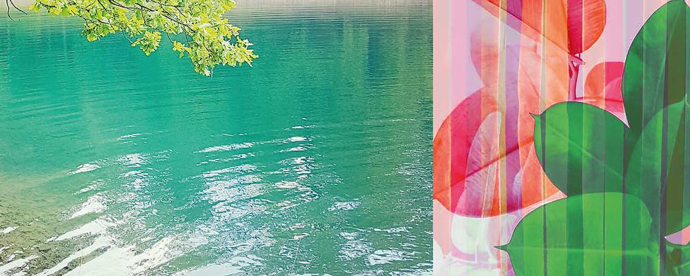 Lake Green, print graphic nature