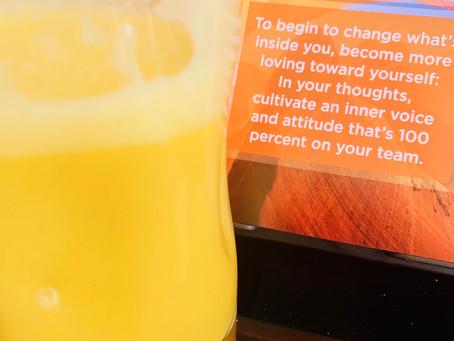 Bright Sunshine smoothie for breakfast