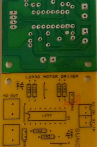 L293D MOTOR DRIVER PCB