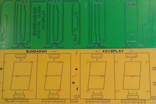 4 NCH FND4 PCB FOR 4 FND DISPLAYS SEPERATE