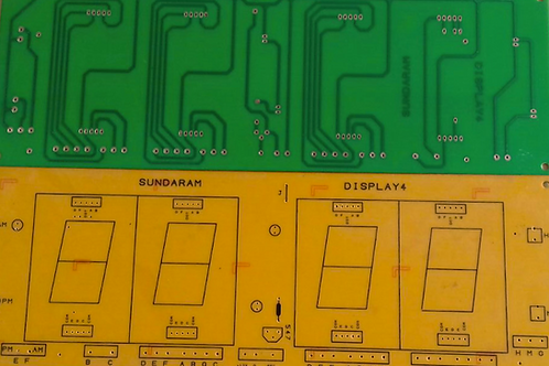 2.3 NCH FND4 PCB FOR 4 FND DISPLAYS SEPERATE
