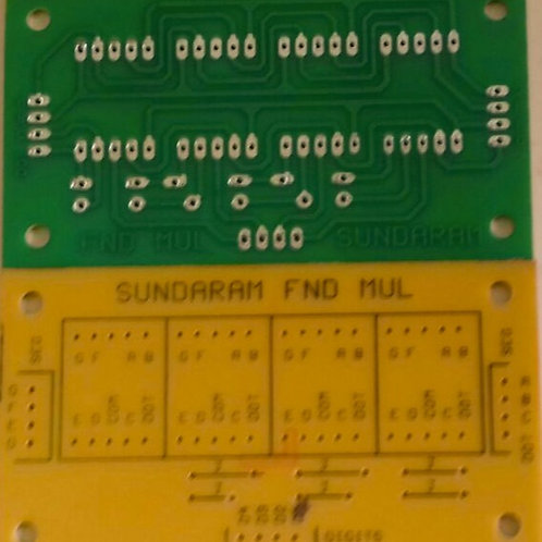 FND4M PCB FOR FOUR DISPLAYS IN MULTIPLEXED