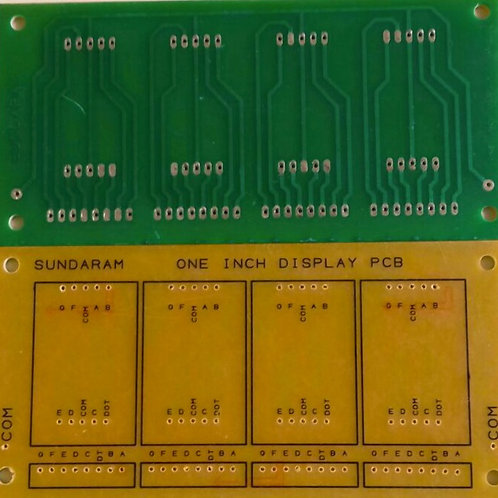 INCH FND4 PCB FOR 4 FND DISPLAYS SEPERATE