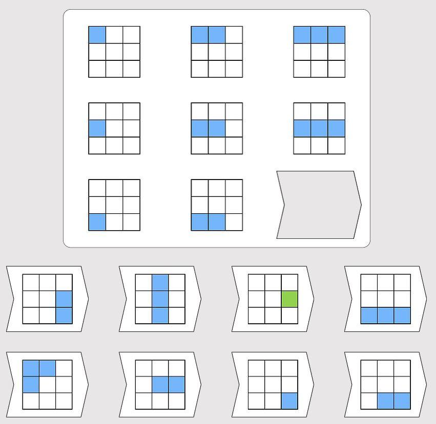 Example image of Raven's Progressive Matrices format
