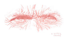 Regard de Clint Eastwood dessin à la sanguine