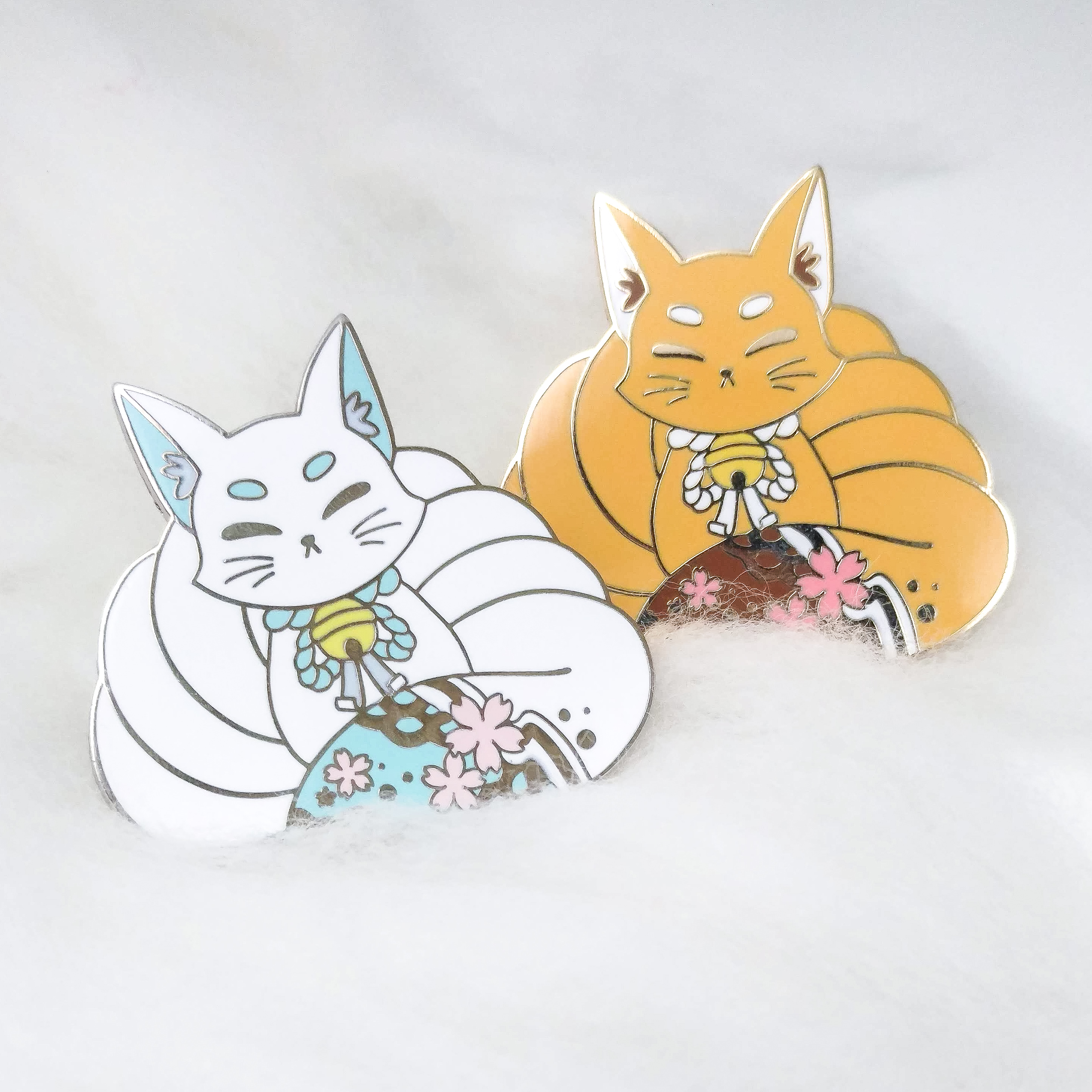 Kitsune Pins