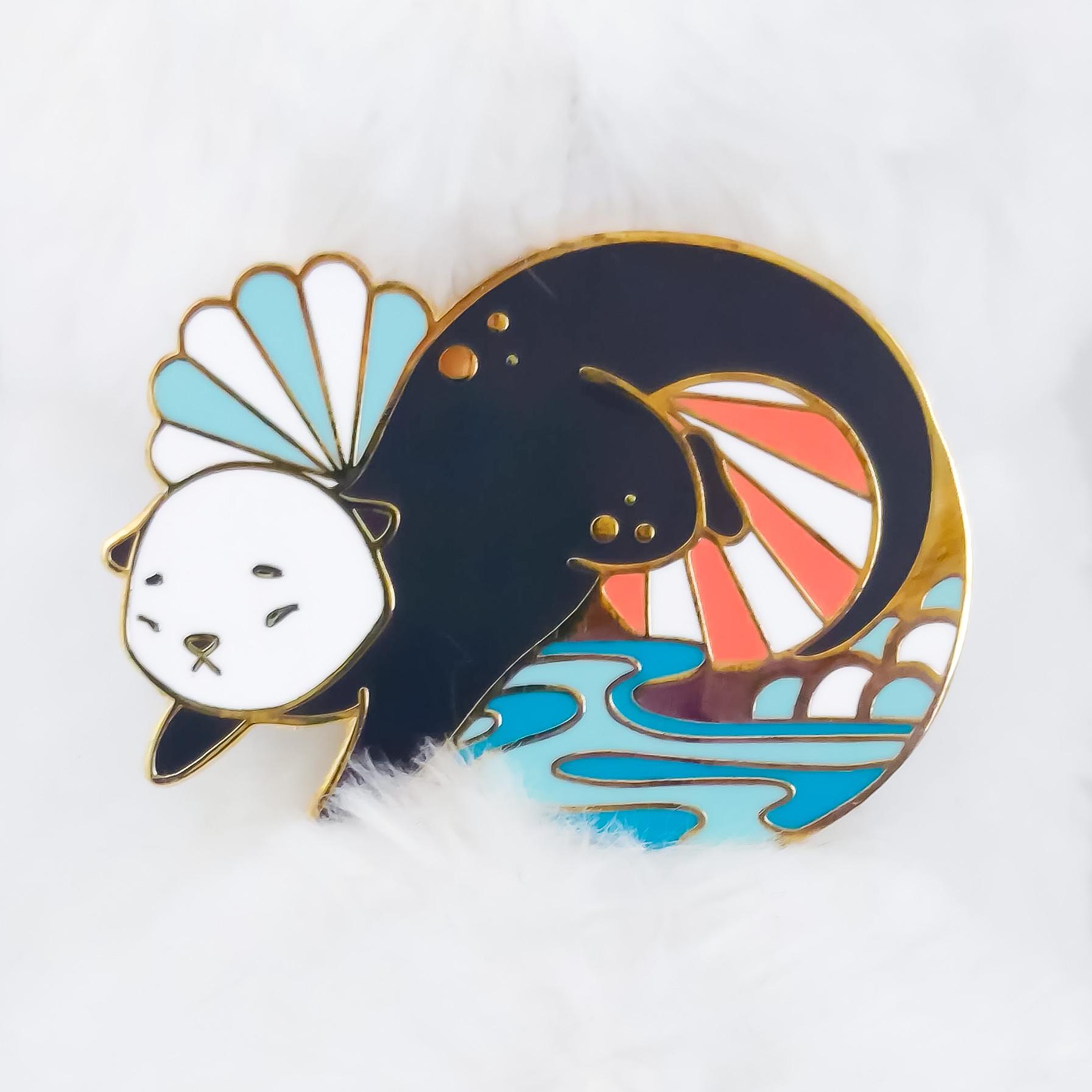 Sea Otter Enamel Pin