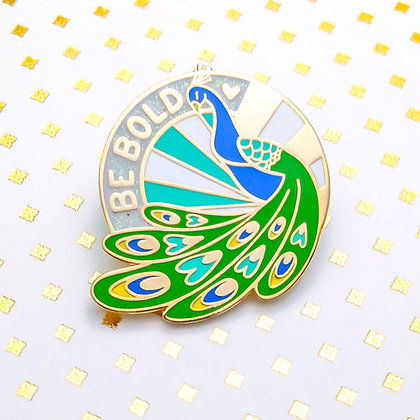 Be Bold Peacock Enamel Pin