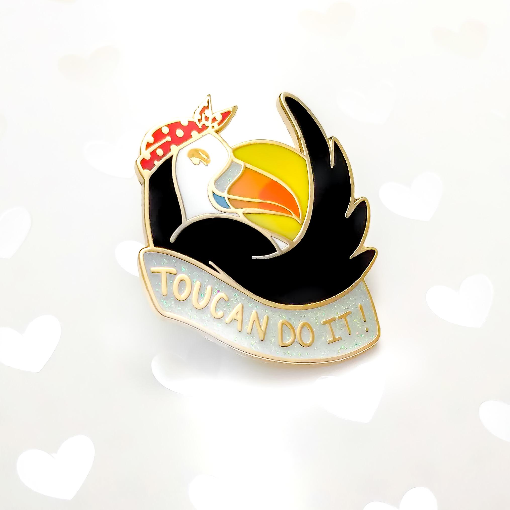 Toucan Do It Enamel Pin