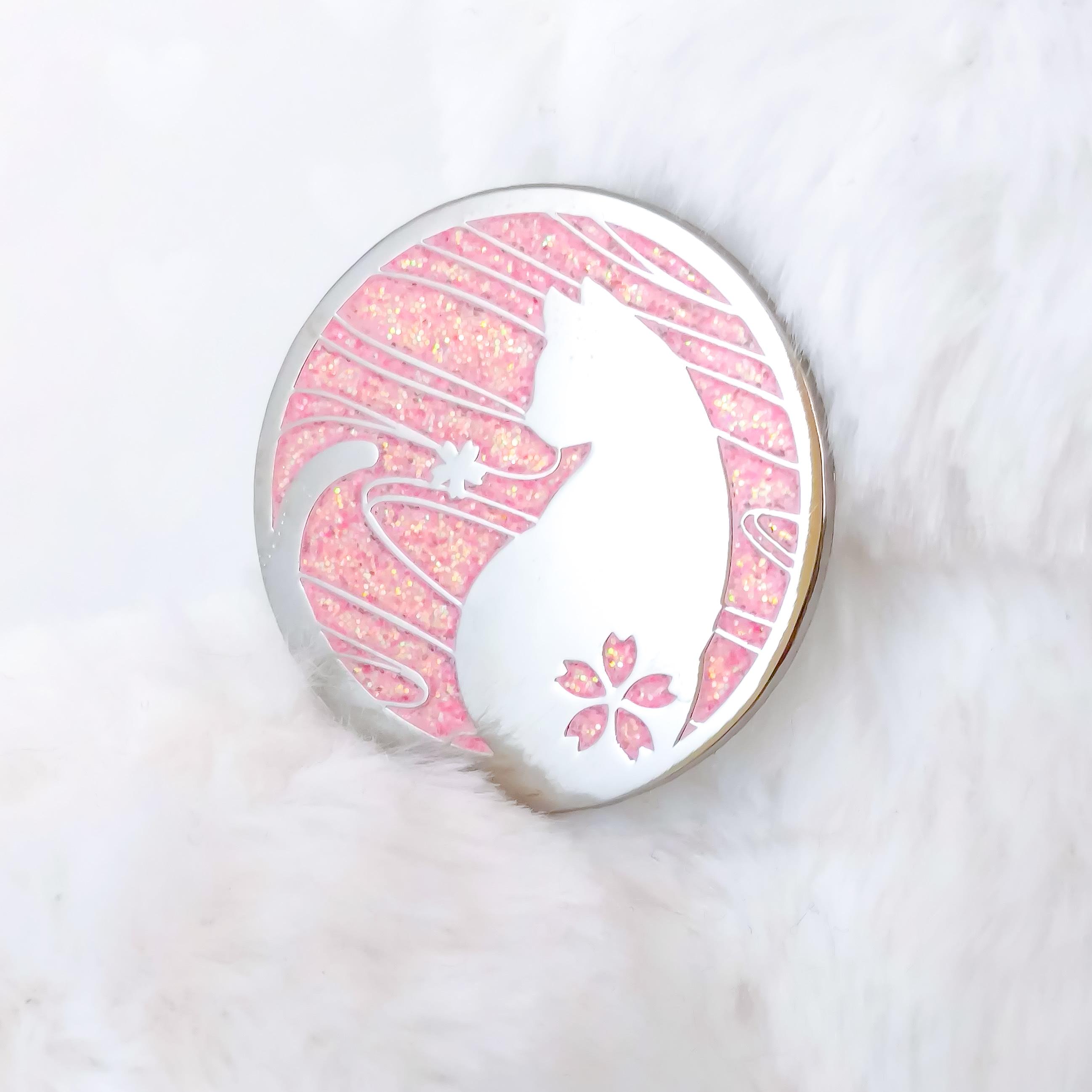 Sakura Cat Enamel Pin