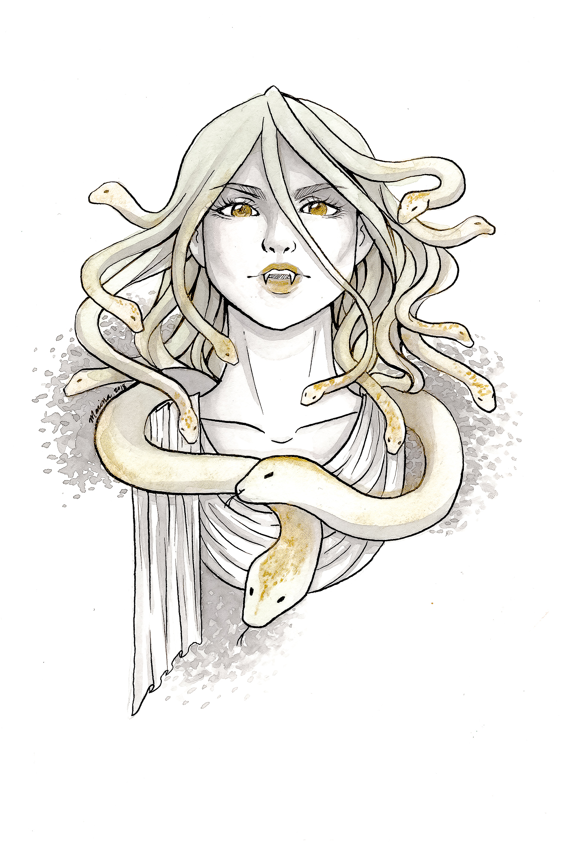 Inktober 2018: Medusa