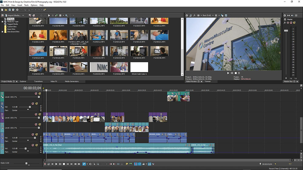 Video editing by Cheshire Film and Photography