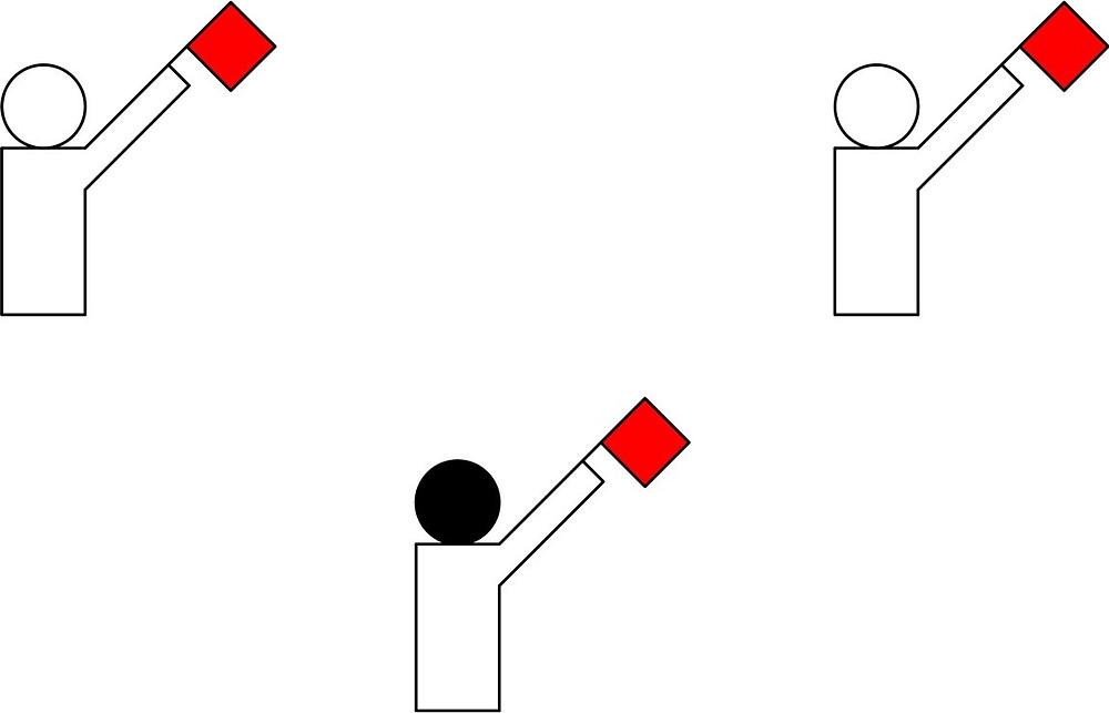 Рис. 5. Счет 3:0 в пользу красных участников