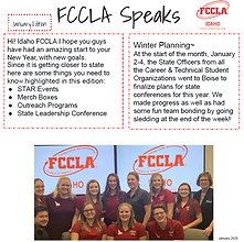 FCCLA Speaks January 2020