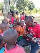 Students enjoying music