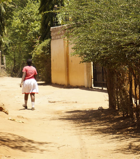 Girl walking to our Childrens Home