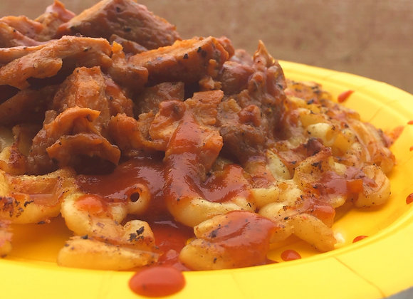 Mac-N-Chese Waffle w/choice of meat