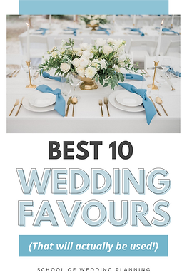 Best 10 Wedding Favours