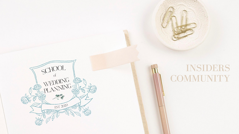 SCHOOL OF WEDDING PLANNING INSIDERS - CO