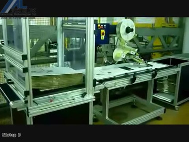 ALTECH ALstep Low Cost Carton Feed & Labelling System - with ALstep S.mp4