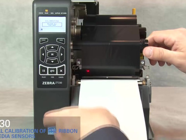 Zebra ZT230 How-To Manually Calibrate Ribbon and Media Sensors